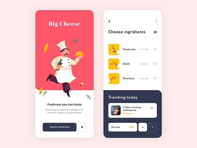 food-drink-app-ui-design-5 - 51+ Stunning Food & Drink Mobile App UI Design Sample [year]