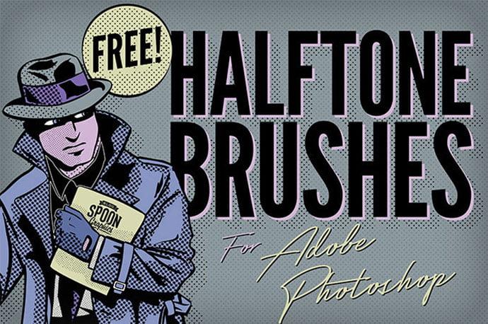 12-Free-Halftone-Texture-Brushes-for-Adobe-Photoshop - 44+ Nice Free Photoshop Brush Sets For Designer [year]
