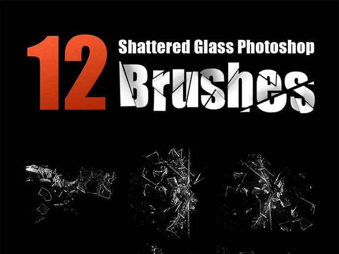 12-High-Resolution-Shattered-Glass-Photoshop-Brushes - 44+ Nice Free Photoshop Brush Sets For Designer [year]