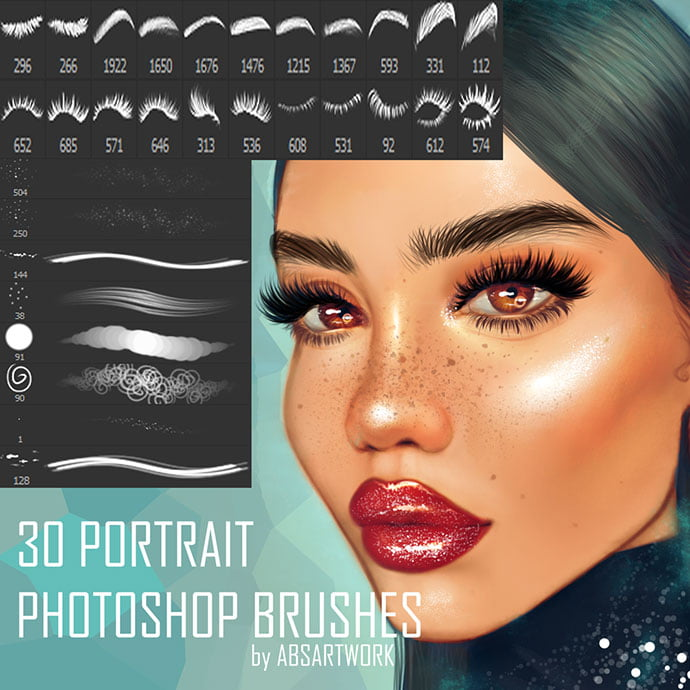 30-portrait-Photoshop-brushes - 44+ Nice Free Photoshop Brush Sets For Designer [year]