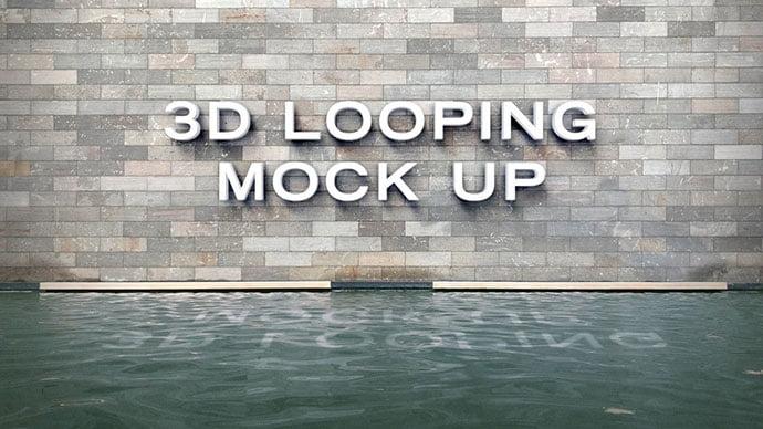 3D-Logo-Animated-Mockup - 40+ Nice Free PSD Showcase Logo For Designer [year]