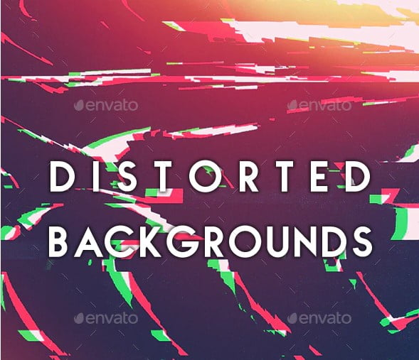 40-Distorted-Backgrounds - 38+ FREE Distorted Typography Designs [year]