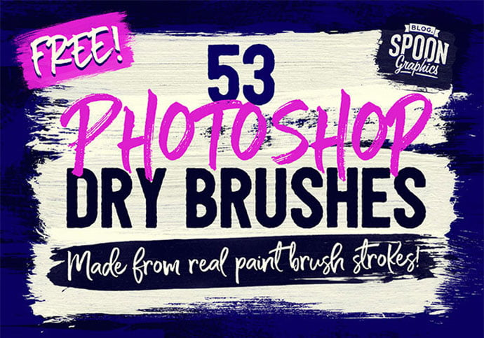 53-Free-Photoshop-Dry-Brushes-Made-From-Real-Brush-Strokes - 44+ Nice Free Photoshop Brush Sets For Designer [year]
