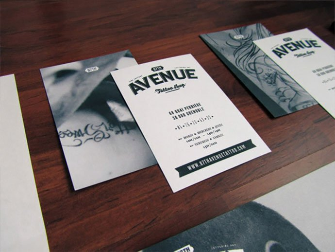 87th-Avenue - 31+ Awesome Free Tattoo Business Card Designs 2020