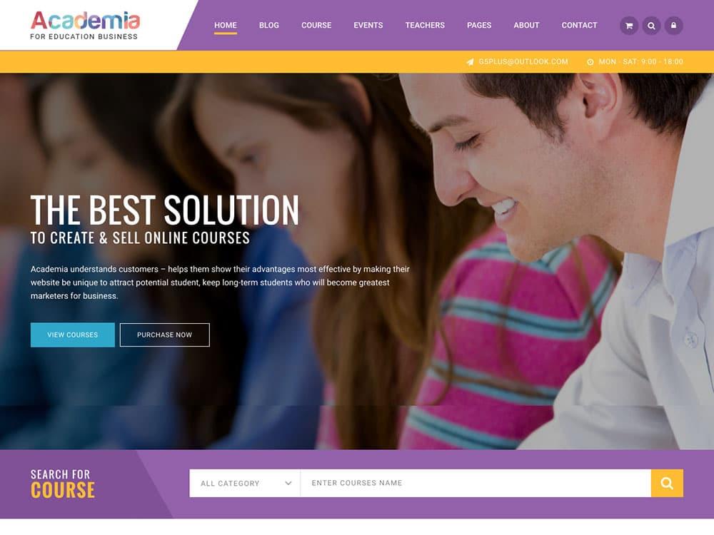 Academia - 30+ Awesome LMS WordPress Themes & Plugins [year]