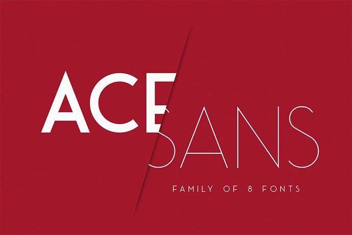 Ace-Sans - 45+ Amazing Sans Serif Fonts For Minimalist Designs [year]