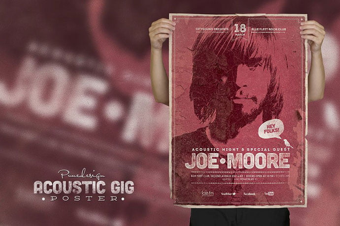 Acoustic-GIG-Poster - 48+ Lovely Flyer & Poster Design Templates [year]