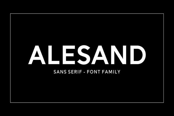 Alesand - 45+ Amazing Sans Serif Fonts For Minimalist Designs [year]