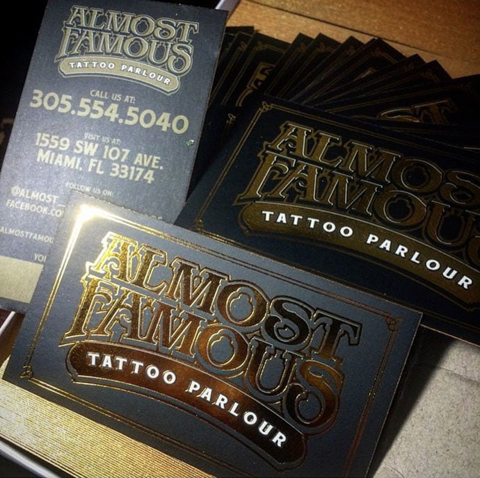Almost-Famous - 31+ Awesome Free Tattoo Business Card Designs 2020