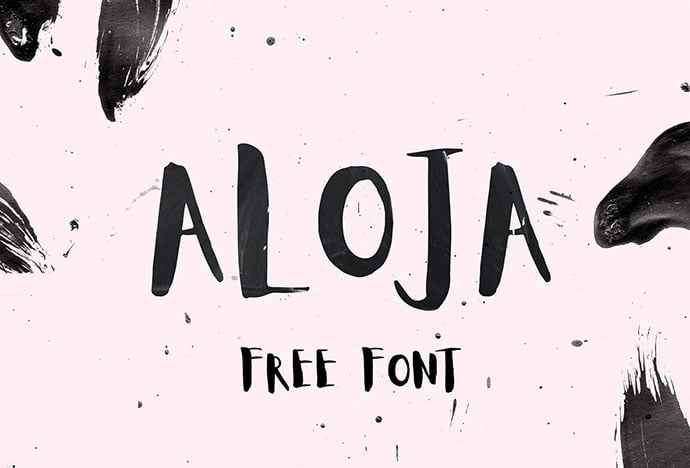 Aloja-Free-Handwritten-Font - 43+ Important Free Fonts Collection [UPDATE 2020]