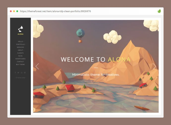 Alona - 33+ Awesome Super Fast Website WordPress Themes [year]