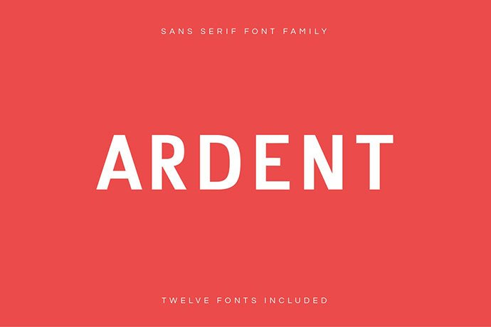 Ardent - 45+ Amazing Sans Serif Fonts For Minimalist Designs [year]