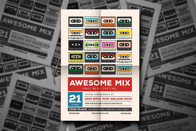 Awesome-Mix-Gigs-Event-Flyer - 48+ Lovely Flyer & Poster Design Templates [year]
