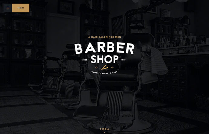 Barbershop - 32+ Impressive Retro Cool WordPress Themes [year]