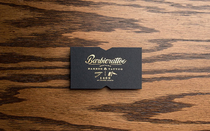 Barbierattoo - 31+ Awesome Free Tattoo Business Card Designs 2020