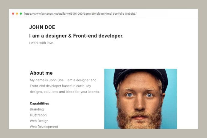 Barts - 53+ Free HTML CSS Portfolio Web Design Templates [year]
