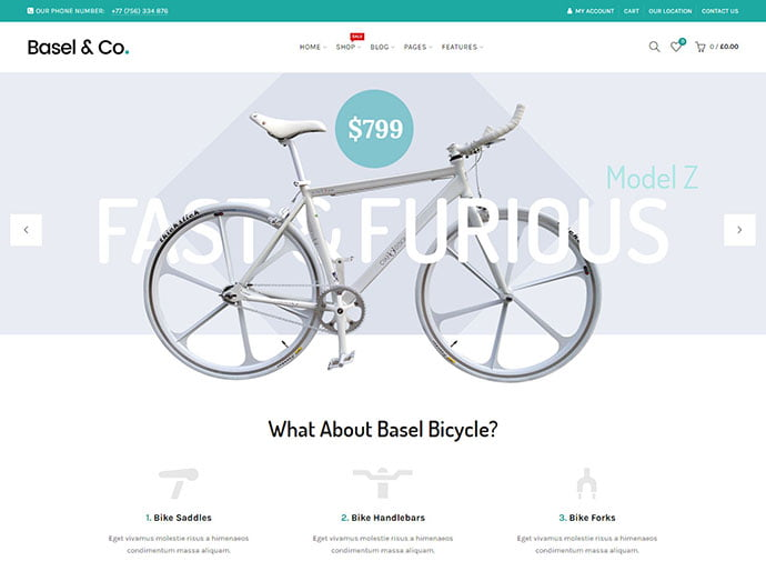 Basel - 29+ Best Bike Store Responsive WordPress Themes [year]