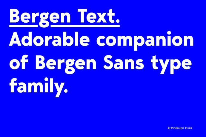 Bergen-Text - 45+ Amazing Sans Serif Fonts For Minimalist Designs [year]