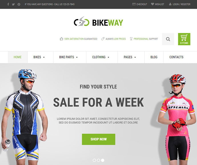 Bikeway - 29+ Best Bike Store Responsive WordPress Themes [year]
