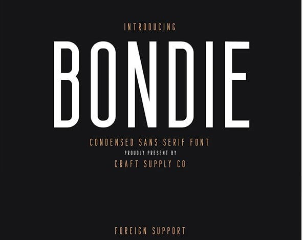 Bondie - 45+ Amazing Sans Serif Fonts For Minimalist Designs [year]