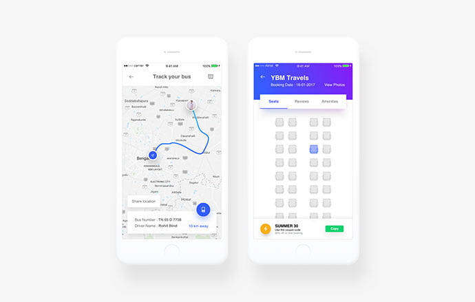 Bussline-ticket - 53+ NICE Free Seat Reservation App UI Design IDEA [year]