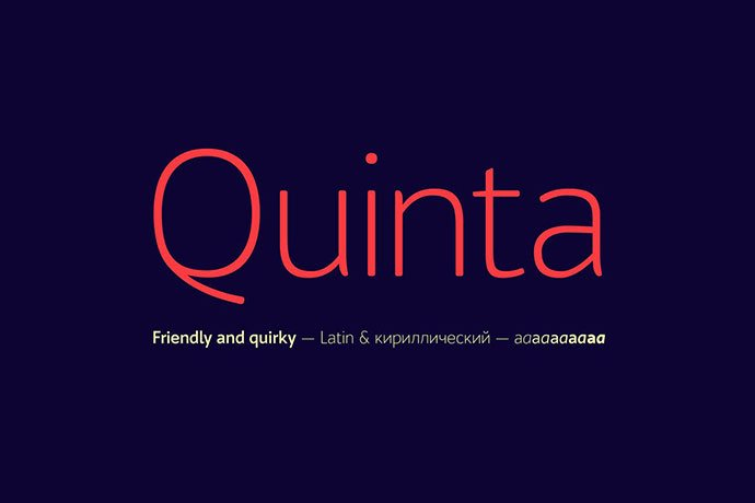 Bw-Quinta - 45+ Amazing Sans Serif Fonts For Minimalist Designs [year]
