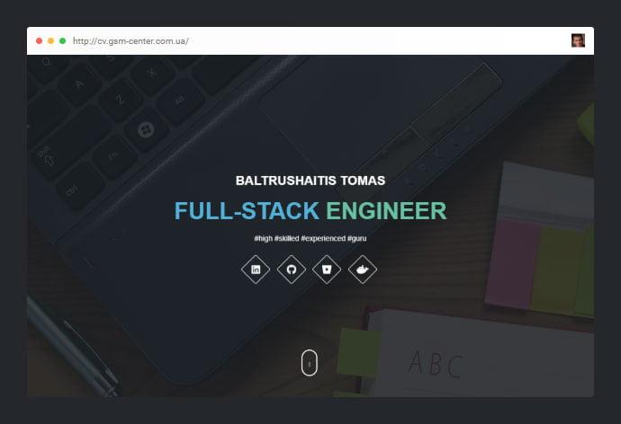 CV-Resume - 53+ Free HTML CSS Portfolio Web Design Templates [year]