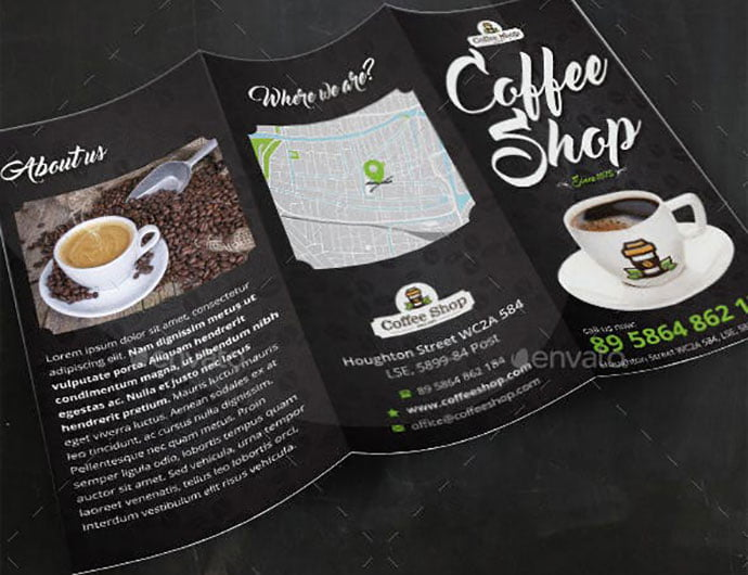Cappuccinos - 33+ Awesome Brochure Design For Coffee Shop [year]