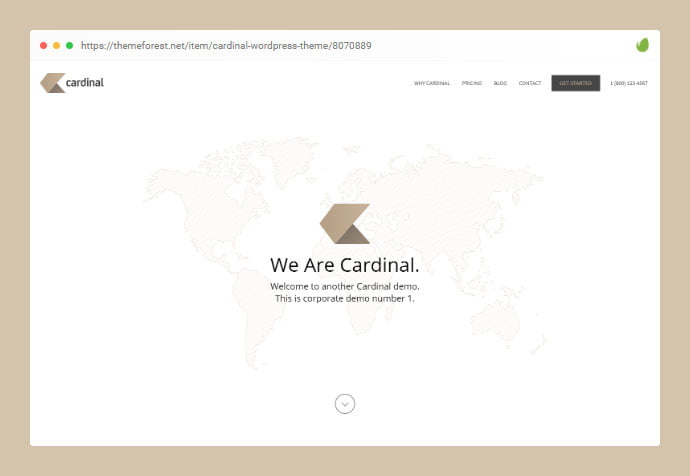 Cardinal - 33+ Awesome Super Fast Website WordPress Themes 2020