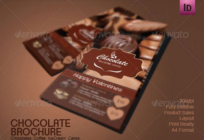Chocolate-Shop-Brochure - 33+ Awesome Brochure Design For Coffee Shop [year]