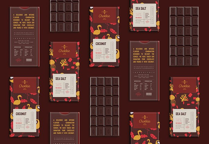 Chokkie-Organic-Chocolates-Branding - 38+ Free Brilliant Retro & Vintage Brand Designs [year]