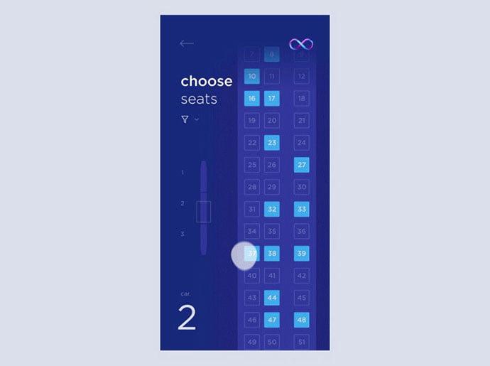 Choose-a-seat-UI - 53+ NICE Free Seat Reservation App UI Design IDEA [year]