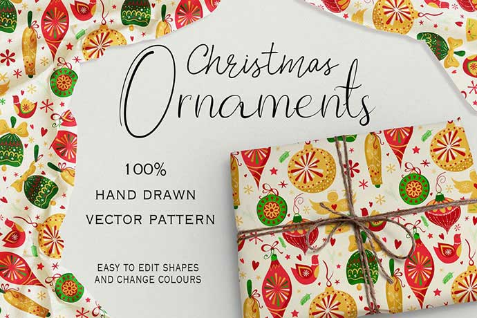 Christmas-Ornaments - 37+ Awesome Christmas Backgrounds, Patterns [year]