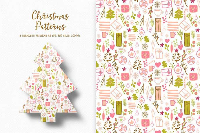 Christmas-Patterns-Collection - 37+ Awesome Christmas Backgrounds, Patterns [year]