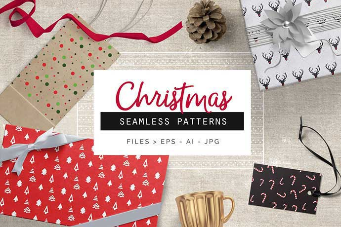 Christmas-Patterns - 37+ Awesome Christmas Backgrounds, Patterns [year]