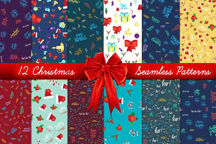 Christmas-Seamless-Patterns-Set