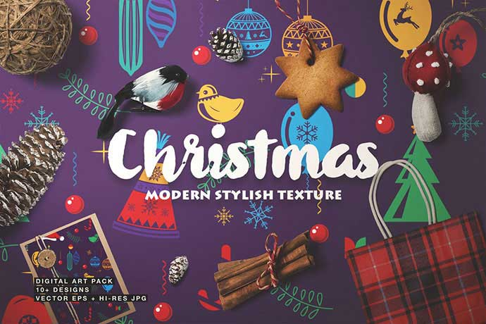 Christmas-Seamless-Patterns - 37+ Awesome Christmas Backgrounds, Patterns [year]