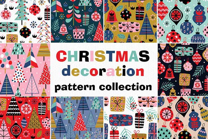 Christmas-decorations - 37+ Awesome Christmas Backgrounds, Patterns [year]