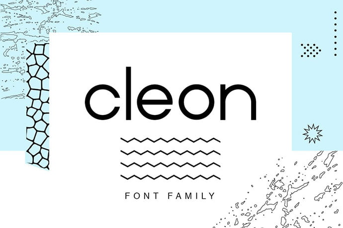 Cleon - 45+ Amazing Sans Serif Fonts For Minimalist Designs [year]