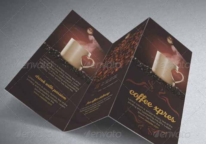 Coffee-Brochure-Template - 33+ Awesome Brochure Design For Coffee Shop [year]
