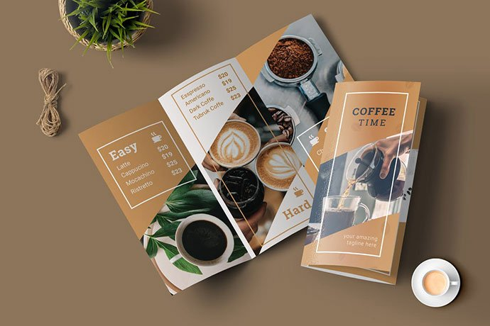 Coffee-Menu-Trifold-1 - 33+ Awesome Brochure Design For Coffee Shop [year]