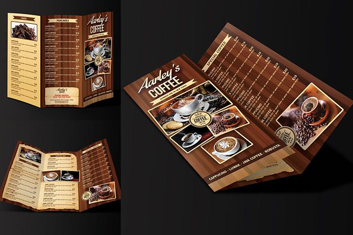 Coffee-Menu-Trifold - 33+ Awesome Brochure Design For Coffee Shop [year]