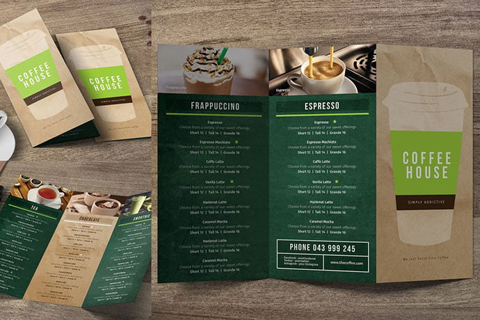 Coffee-Trifold-Menu-2 - 33+ Awesome Brochure Design For Coffee Shop [year]