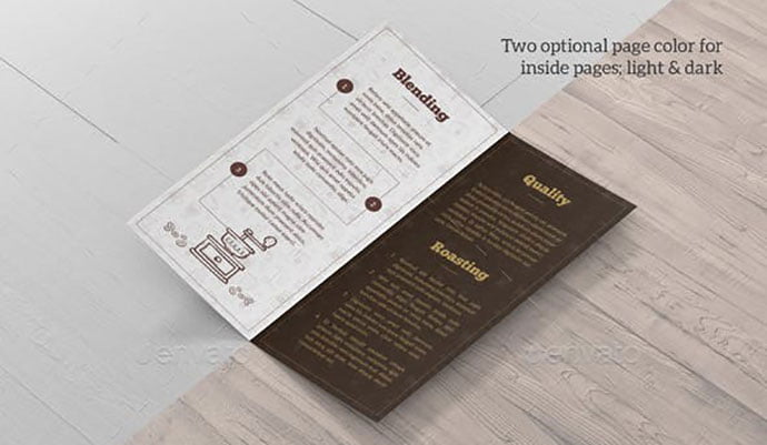 CoffeeBlend-Bifold - 33+ Awesome Brochure Design For Coffee Shop [year]