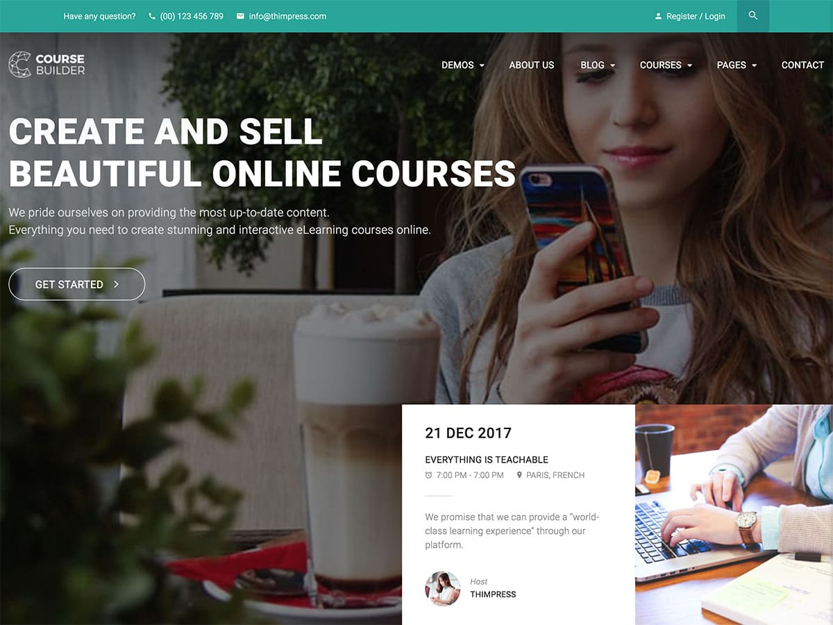 Course-Builder - 30+ Awesome LMS WordPress Themes & Plugins [year]