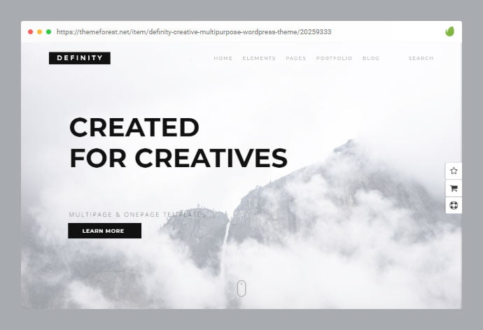 Definity - 33+ Awesome Super Fast Website WordPress Themes [year]