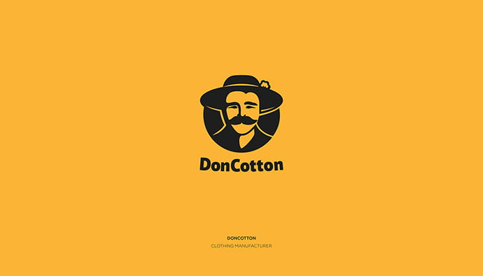 DonCotton - 33+ Free Awesome Portrait Logo Designs Sample [year]