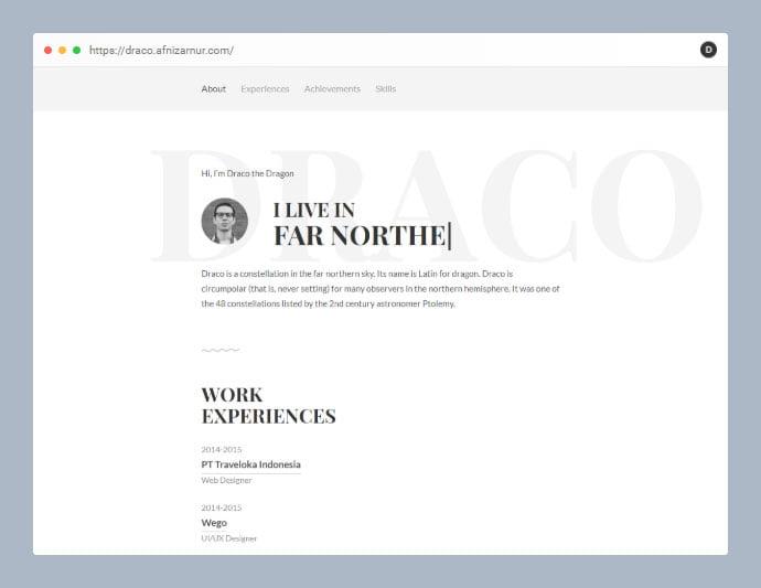 Draco - 53+ Free HTML CSS Portfolio Web Design Templates [year]