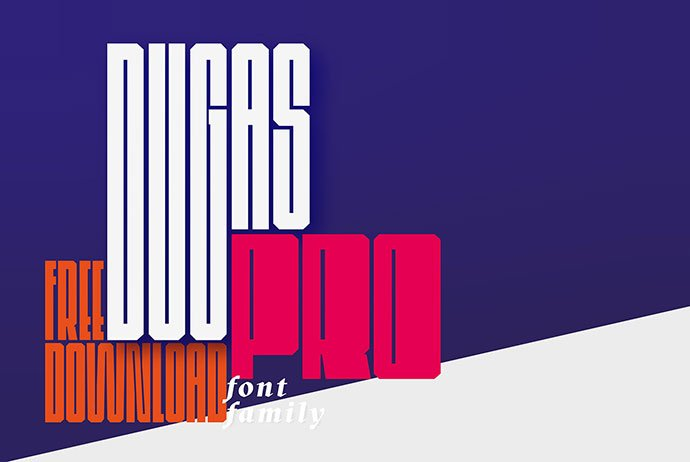 Dugas - 43+ Important Free Fonts Collection [UPDATE 2020]