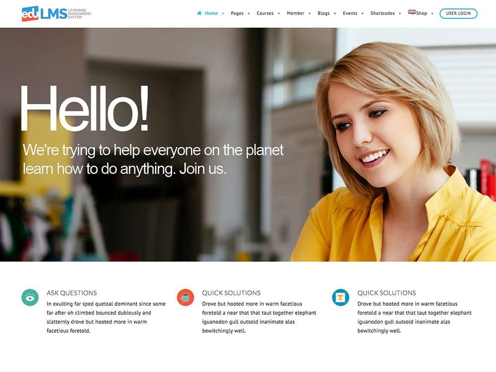 EduLMS - 30+ Awesome LMS WordPress Themes & Plugins [year]